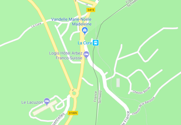 Map Of France And Switzerland Border.The Border Splitting Hotel That Hid The Resistance Now I Know