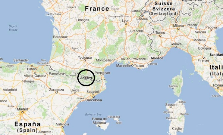 Map Of Spain France And Andorra.How To Become Half A Prince Now I Know